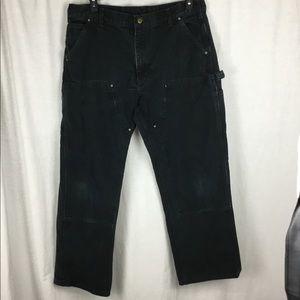 Black 38x30 Carhartt work Jeans reinforced knees